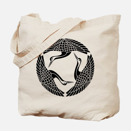 Circle of three cranes Tote Bag
