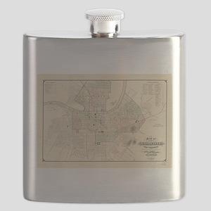 Vintage Map of Nashville Tennessee (1877) Flask