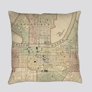 Vintage Map of Nashville Tennessee Everyday Pillow