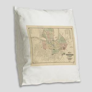 Vintage Map of Nashville Tenne Burlap Throw Pillow