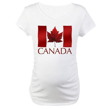 Canada Flag Souvenir Maternity T-Shirt Gifts