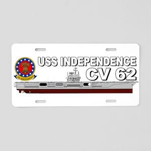 USS Independence CV-62 Aluminum License Plate