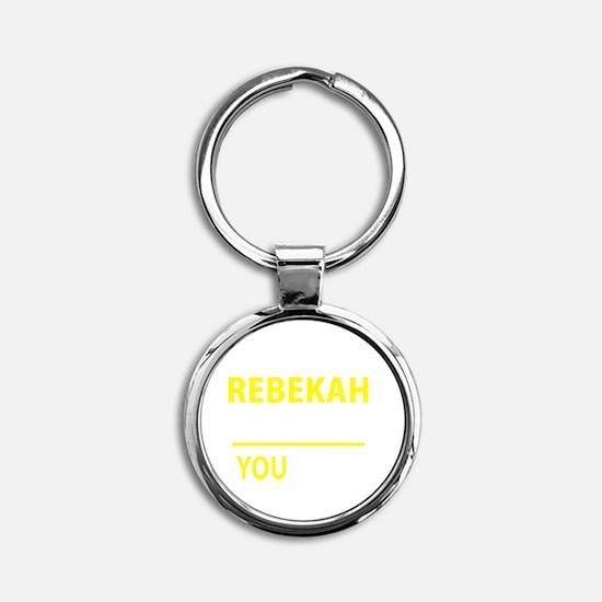 Rebekah Round Keychain