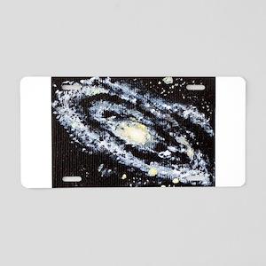 Andromeda Galaxie Aluminum License Plate