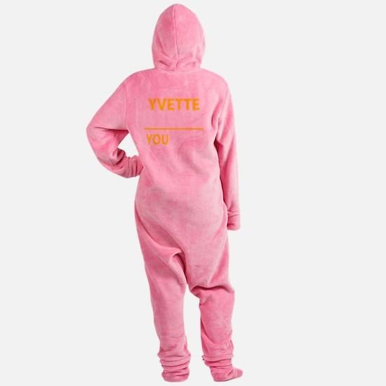 Cute Yvette Footed Pajamas