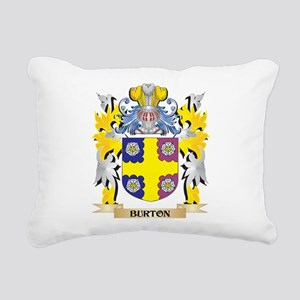 Burton Coat of Arms - Fa Rectangular Canvas Pillow