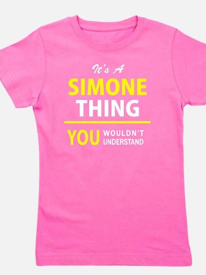 Cute Simone Girl's Tee