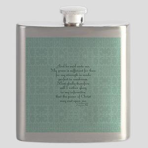 2 Corinthians 12:9 green Flask