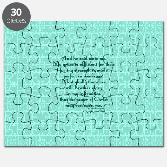 2 Corinthians 12:9 green Puzzle