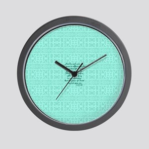 2 Corinthians 12:9 green Wall Clock