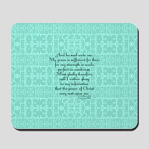 2 Corinthians 12:9 green Mousepad