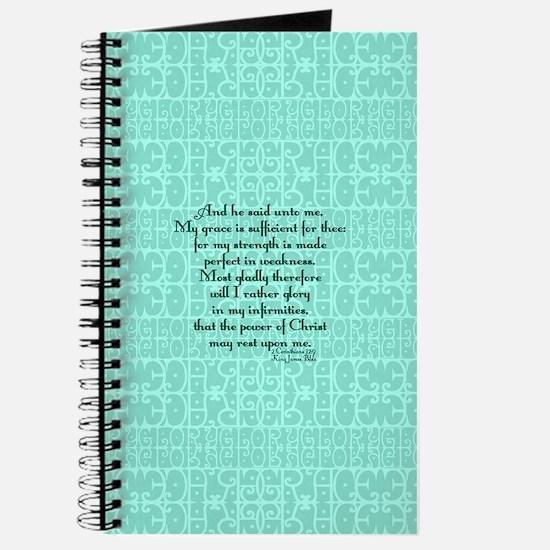 2 Corinthians 12:9 green Journal