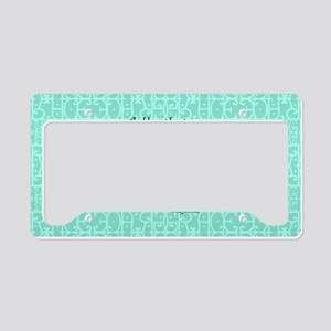 2 Corinthians 12:9 green License Plate Holder