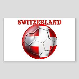 Switzerland Soccer Sticker (Rectangle)