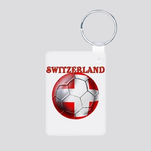 Switzerland Soccer Aluminum Photo Keychains