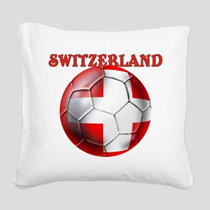 Switzerland Soccer Square Canvas Pillow
