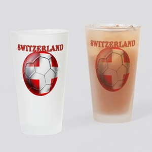 Switzerland Soccer Drinking Glass
