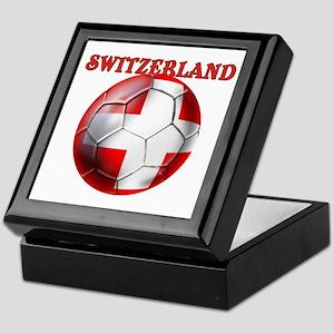 Switzerland Soccer Keepsake Box