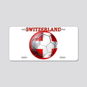 Switzerland Soccer Aluminum License Plate