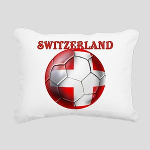 Switzerland Soccer Rectangular Canvas Pillow