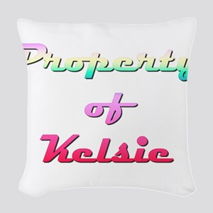 Property Of Kelsie Female Woven Throw Pillow