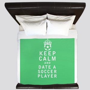 Keep Calm and Date a Soccer Player FULL King Duvet