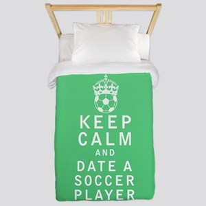 Keep Calm and Date a Soccer Player FULL Twin Duvet