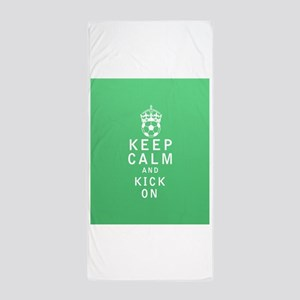 Keep Calm and Kick On FULL Beach Towel