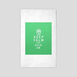 Keep Calm and Kick On FULL 3'x5' Area Rug