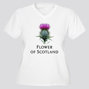 Flower of Scotland Women's Plus Size V-Neck T-Shir