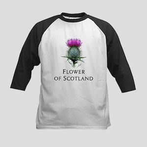 Flower of Scotland Kids Baseball Jersey