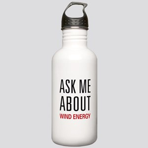 Ask Me About Wind Energy Stainless Water Bottle 1.