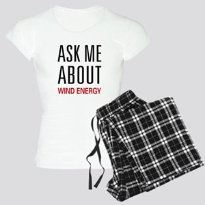 Ask Me About Wind Energy Women's Light Pajamas