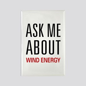 Ask Me About Wind Energy Rectangle Magnet