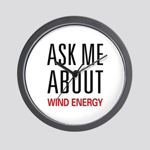 Ask Me About Wind Energy Wall Clock
