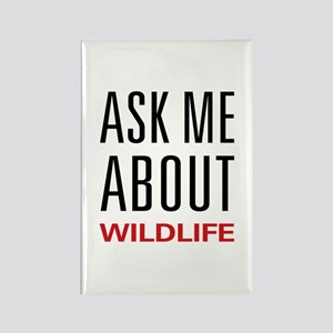 Ask Me About Wildlife Rectangle Magnet