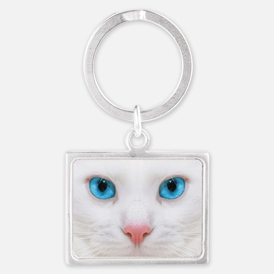 White Cat Keychains