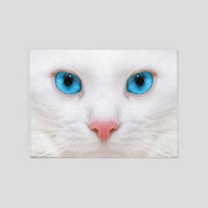 White Cat 5'x7'Area Rug