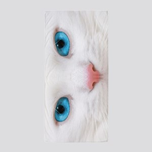 White Cat Beach Towel