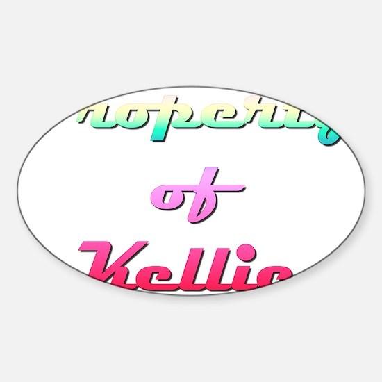 Property Of Kellie Female Sticker (Oval)