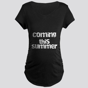 Coming this Summer Maternity Dark T-Shirt