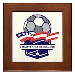 Custom USA Soccer Framed Tile