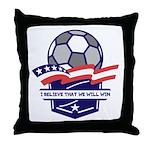 Custom USA Soccer Throw Pillow