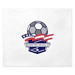 Custom USA Soccer King Duvet