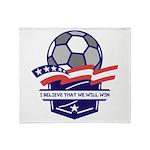 Custom USA Soccer Throw Blanket