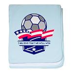 Custom USA Soccer baby blanket