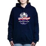 Custom USA Soccer Women's Hooded Sweatshirt