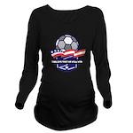 Custom USA Soccer Long Sleeve Maternity T-Shirt