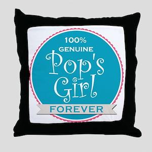 100% Pop's Girl Throw Pillow