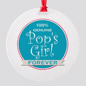 100% Pop's Girl Round Ornament